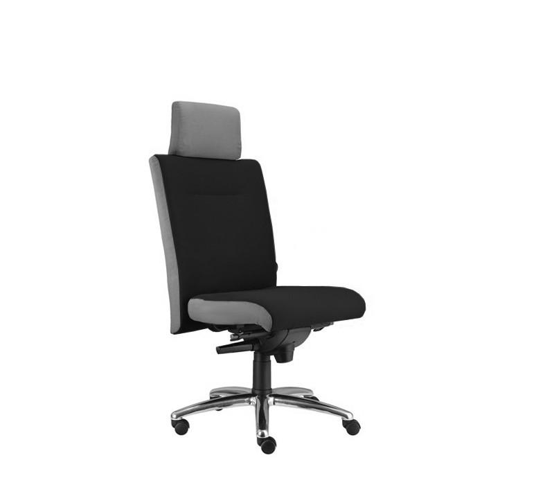 kancelářská židle Asidum s podhlavníkem, synchro P (suedine 1, sk.1)