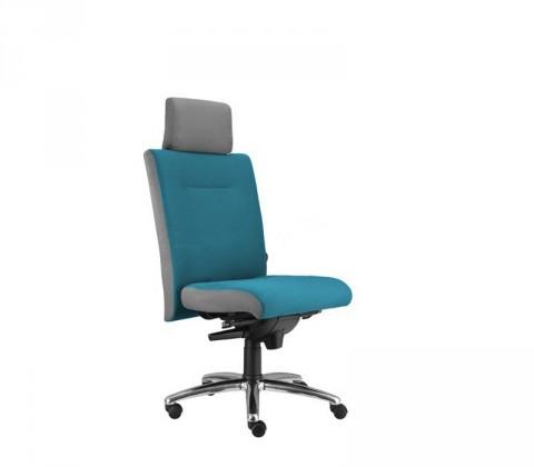 kancelářská židle Asidum s podhlavníkem, synchro P (suedine 65, sk.1)
