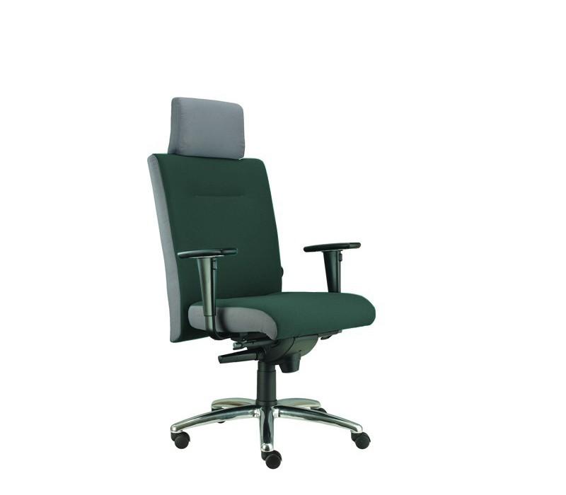 kancelářská židle Asidum s područkami a podhlavníkem,synchro P (alcatraz 12, sk.3)