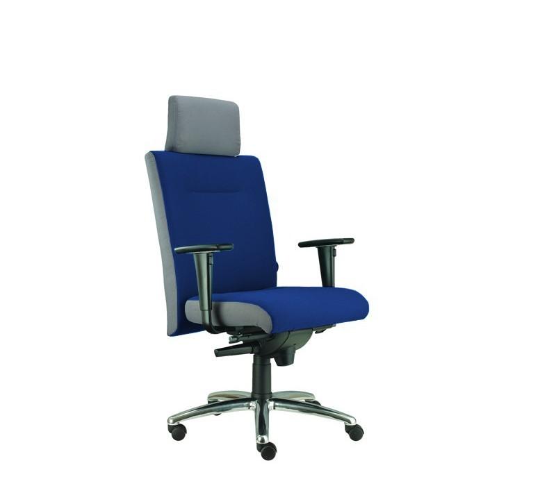 kancelářská židle Asidum s područkami a podhlavníkem,synchro P (alcatraz 22, sk.3)