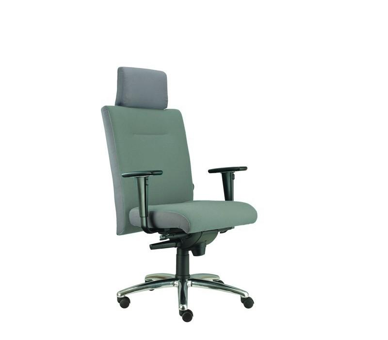 kancelářská židle Asidum s područkami a podhlavníkem,synchro P (alcatraz 30, sk.3)
