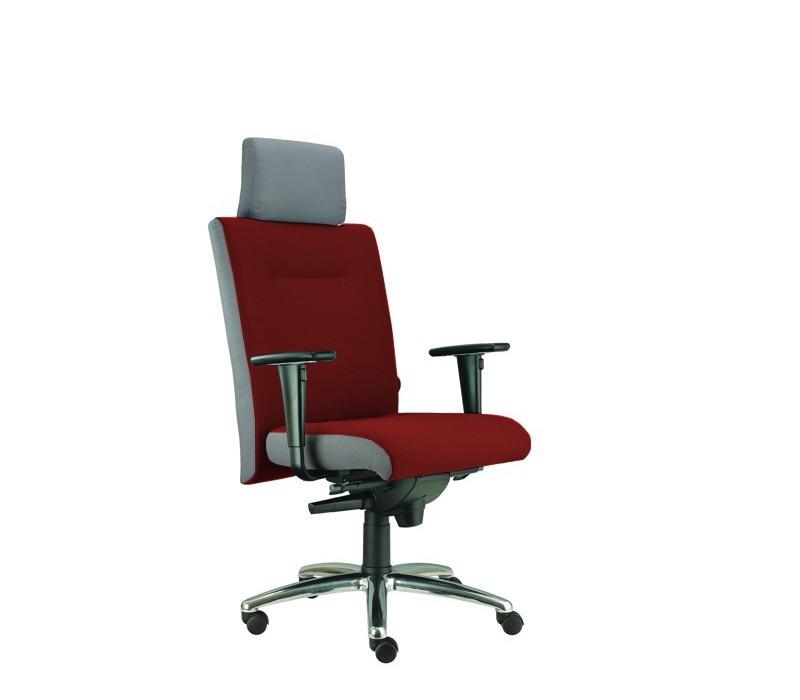 kancelářská židle Asidum s područkami a podhlavníkem,synchro P (alcatraz 32, sk.3)
