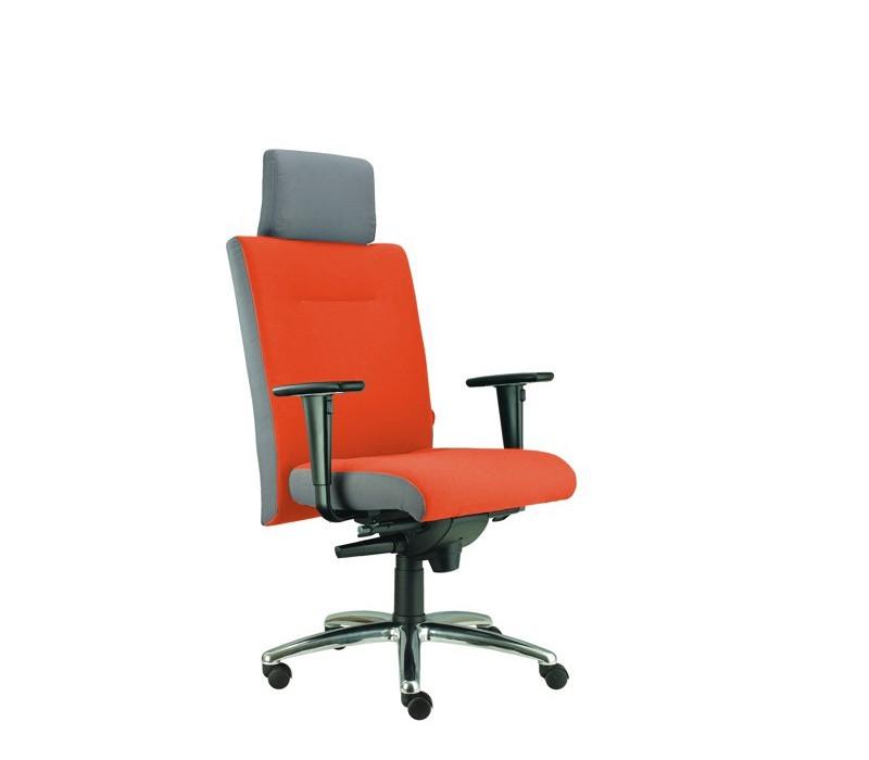 kancelářská židle Asidum s područkami a podhlavníkem,synchro P (alcatraz 46, sk.3)