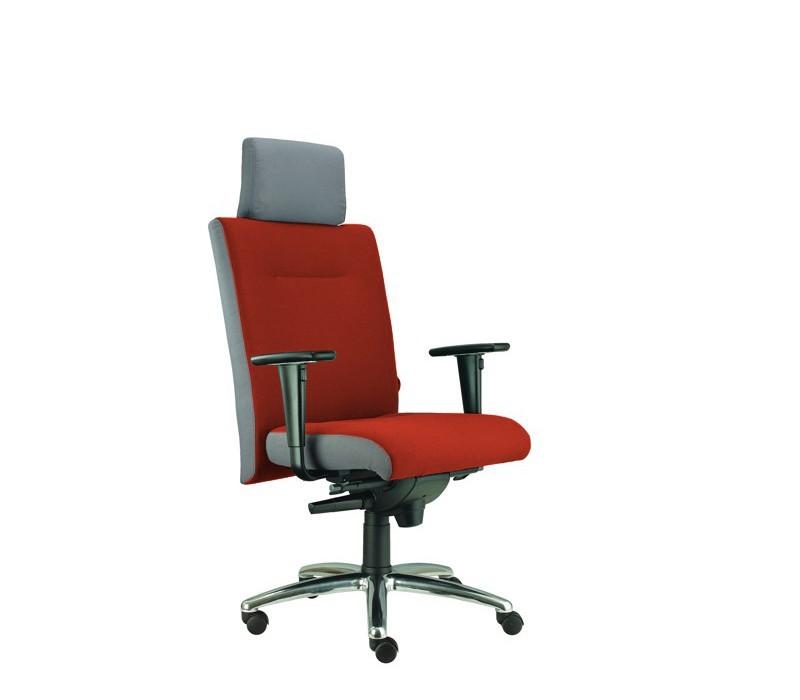kancelářská židle Asidum s područkami a podhlavníkem,synchro P(alcatraz 845, sk.3)