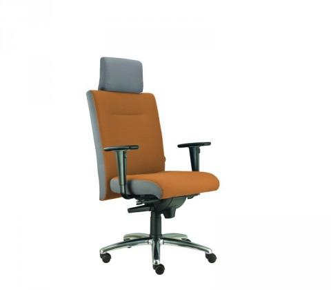 kancelářská židle Asidum s područkami a podhlavníkem,synchro P(alcatraz 847, sk.3)