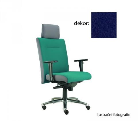kancelářská židle Asidum s područkami a podhlavníkem, synchro P (koženka 68, sk.3)