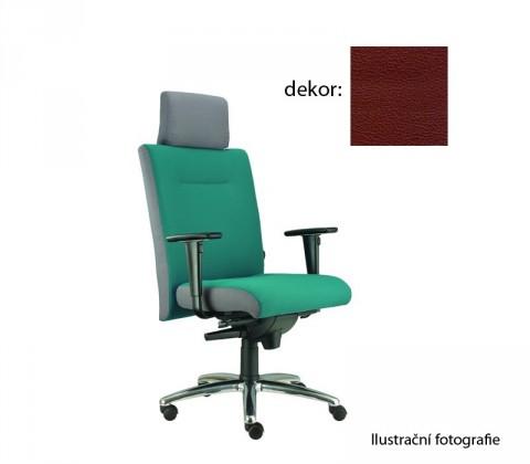 kancelářská židle Asidum s područkami a podhlavníkem, synchro P (koženka 85, sk.3)