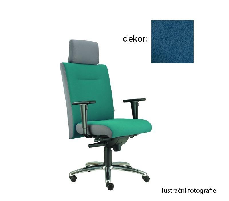 kancelářská židle Asidum s područkami a podhlavníkem, synchro P (kůže 166, sk.5)
