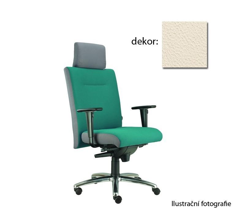 kancelářská židle Asidum s područkami a podhlavníkem, synchro P (kůže 300, sk.5)