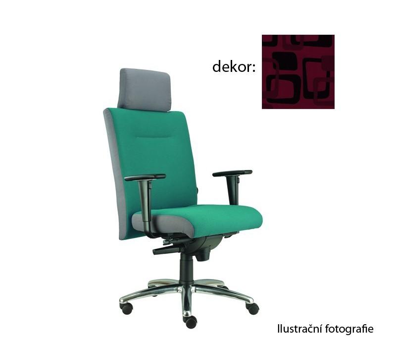 kancelářská židle Asidum s područkami a podhlavníkem, synchro P (norba 51, sk.4)