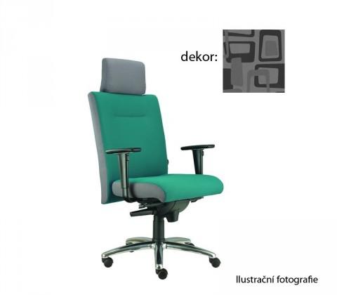 kancelářská židle Asidum s područkami a podhlavníkem, synchro P (norba 81, sk.4)