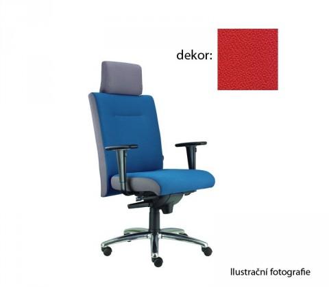 kancelářská židle Asidum s područkami a podhlavníkem,synchro P (phoenix 105, sk.3)