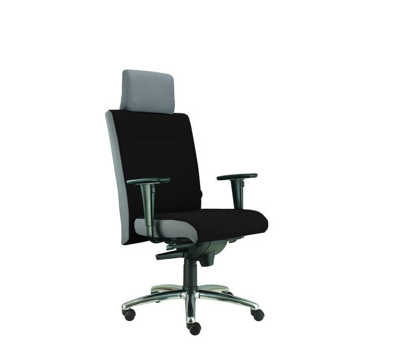 kancelářská židle Asidum s područkami a podhlavníkem, synchro P (suedine 1, sk.1)