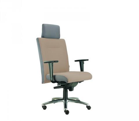 kancelářská židle Asidum s područkami a podhlavníkem,synchro P (suedine 109, sk.1)