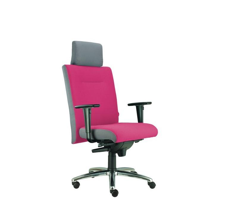 kancelářská židle Asidum s područkami a podhlavníkem, synchro P (suedine 41, sk.1)