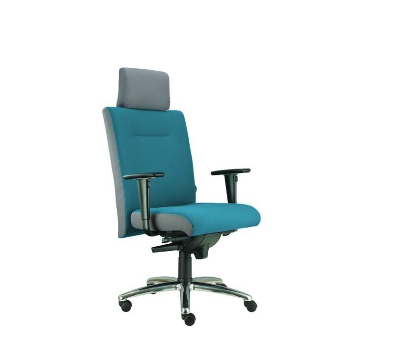 kancelářská židle Asidum s područkami a podhlavníkem, synchro P (suedine 65, sk.1)