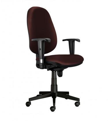 kancelářská židle Bruno - bez područek, T-synchro (potah - kůže)