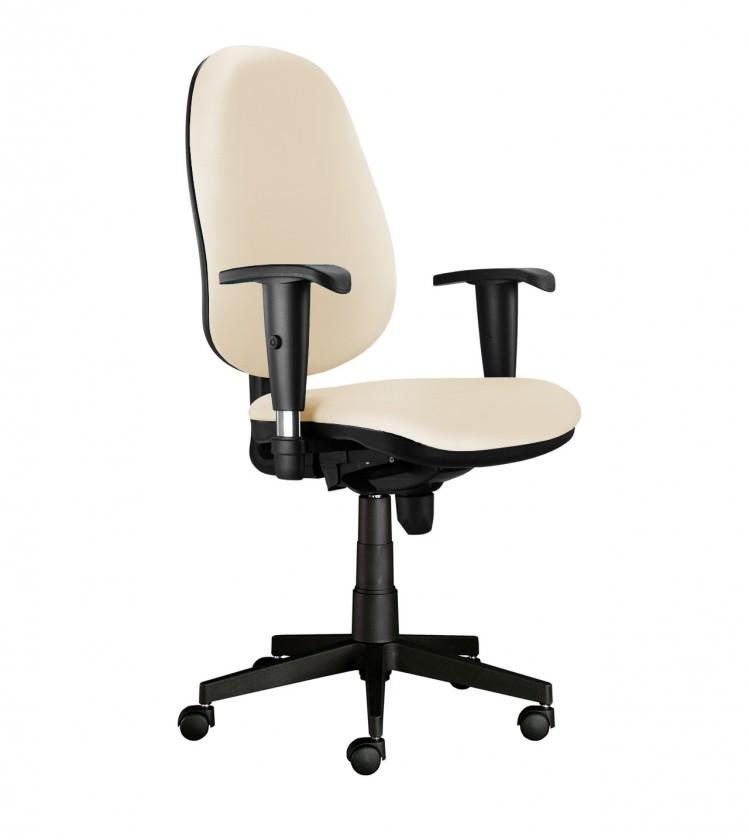 kancelářská židle Bruno - s područkami, E-synchro (potah - kůže)