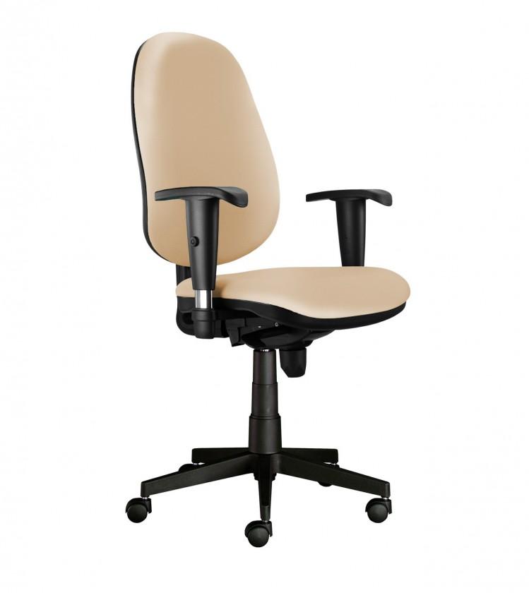 kancelářská židle Bruno - s područkami (potah - syntetická kůže)