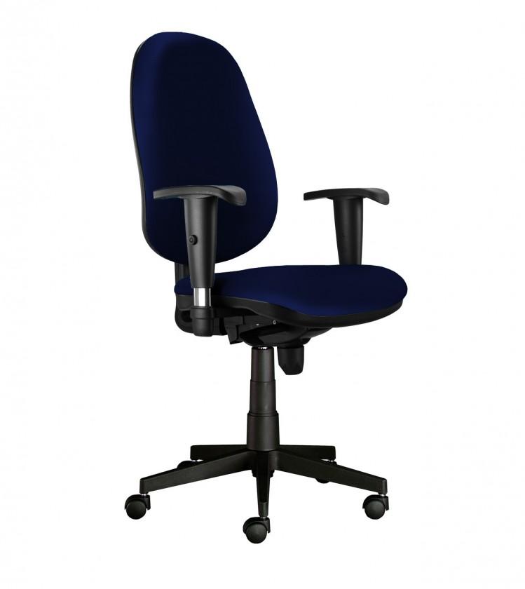 kancelářská židle Bruno - s područkami, T-synchro (potah - syntetická kůže)
