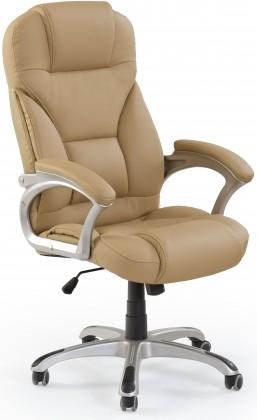 kancelářská židle Carlos - Kancelářské křeslo, mechanismus tilt (světlá hnědá)