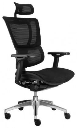 kancelářská židle Concordo, síťovaný sedák (černá)