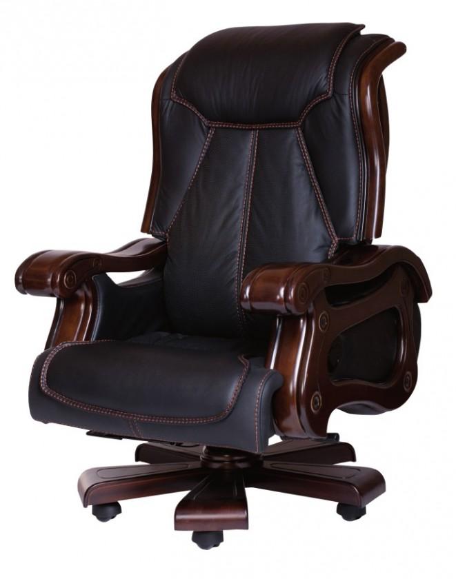 kancelářská židle Dallas (černá, hnědá)