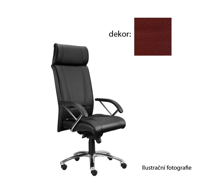 kancelářská židle Demos Boss - Kancelářská židle s područkami (koženka 85)