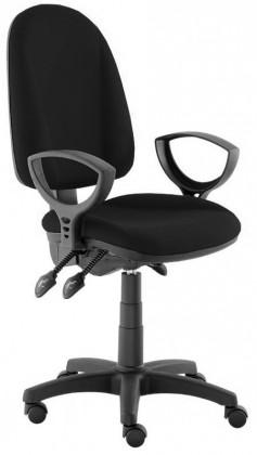 kancelářská židle Dona - s područkami P20, E-asynchro (potah - kůže)