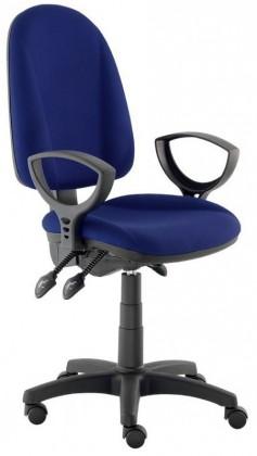 kancelářská židle Dona - s područkami P20, E-asynchro (potah - látka)