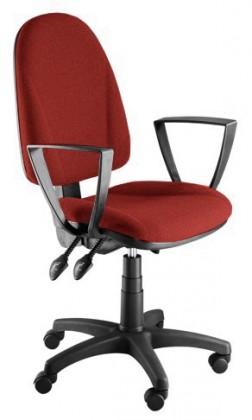 kancelářská židle Dona - s područkami P24, E-asynchro (potah - syntetická kůže)