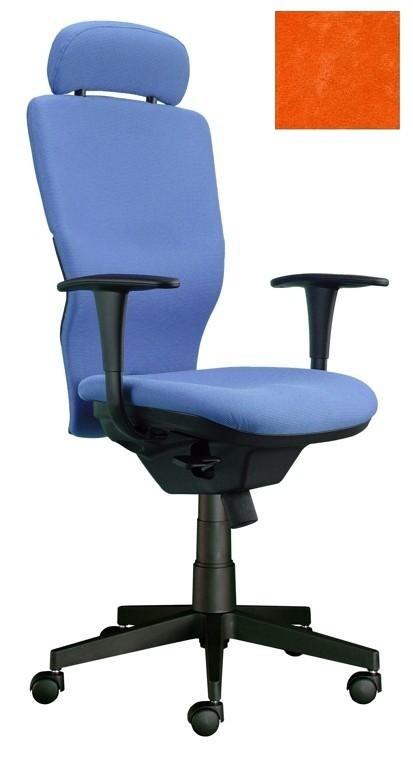 kancelářská židle Ema šéf (Suedine 46, oranžová)