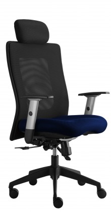 kancelářská židle Lexa s podhlavníkem (alcatraz 22, sk.3)