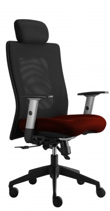 kancelářská židle Lexa s podhlavníkem (alcatraz 845, sk.3)