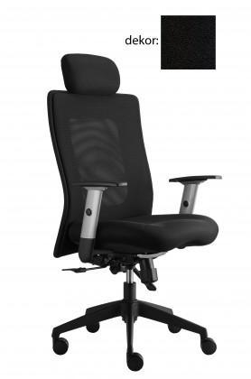 kancelářská židle Lexa s podhlavníkem (koženka 12, sk.3)