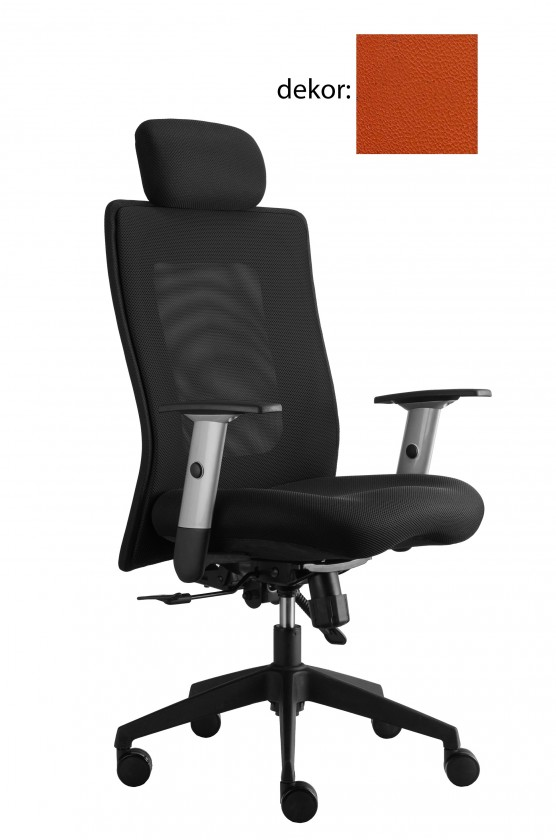 kancelářská židle Lexa s podhlavníkem (koženka 74, sk.3)
