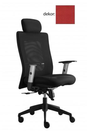 kancelářská židle Lexa s podhlavníkem (kůže 163, sk.5)