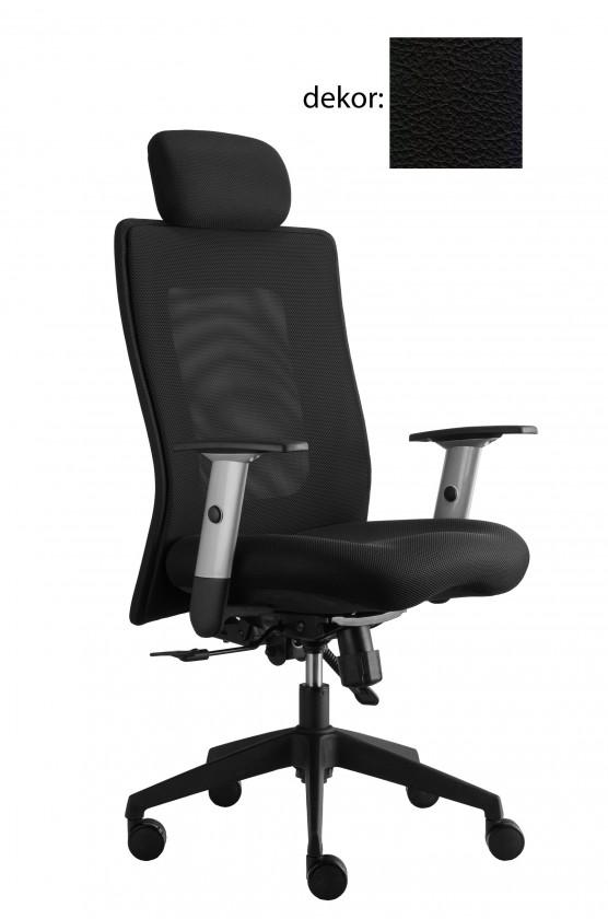 kancelářská židle Lexa s podhlavníkem (kůže 176, sk.5)