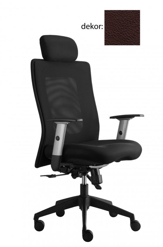kancelářská židle Lexa s podhlavníkem (kůže 177, sk.5)