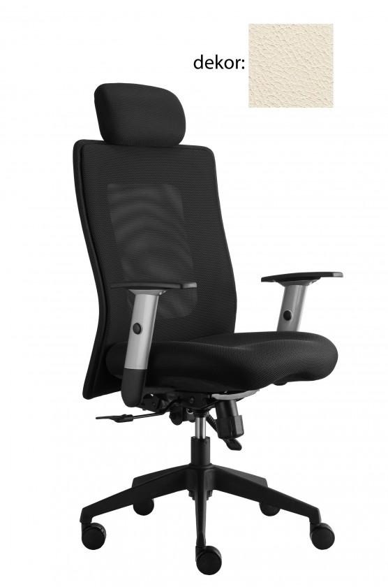 kancelářská židle Lexa s podhlavníkem (kůže 300, sk.5)