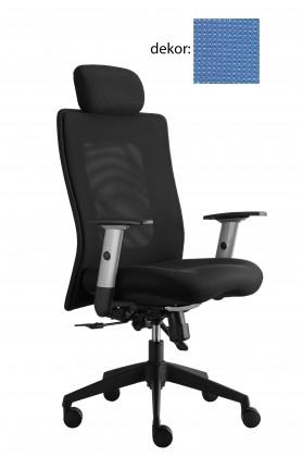 kancelářská židle Lexa s podhlavníkem (pola 375, sk.4)