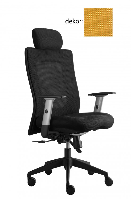 kancelářská židle Lexa s podhlavníkem (pola 88, sk.4)