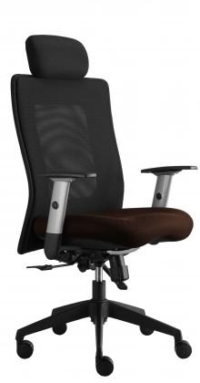 kancelářská židle Lexa s podhlavníkem (suedine 21, sk.1)
