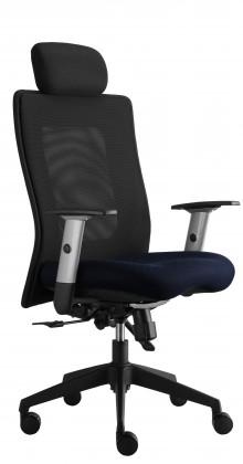 kancelářská židle Lexa s podhlavníkem (suedine 9, sk.1)
