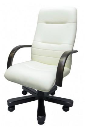 kancelářská židle Los Angeles (slonová kost, hnědá)
