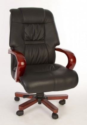 kancelářská židle Miami (černá, hnědá)