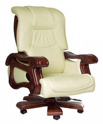 kancelářská židle New York (slonová kost, hnědá)