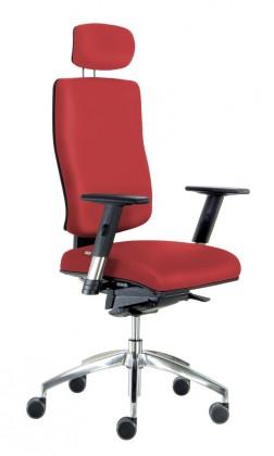 kancelářská židle Notio Boss - s područkami P68, podhlavník, synchro P (potah - kůže)
