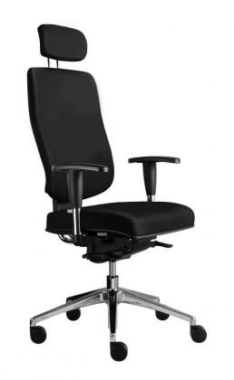 kancelářská židle Notio Boss - s područkami P93, podhlavník, synchro P (potah - kůže)