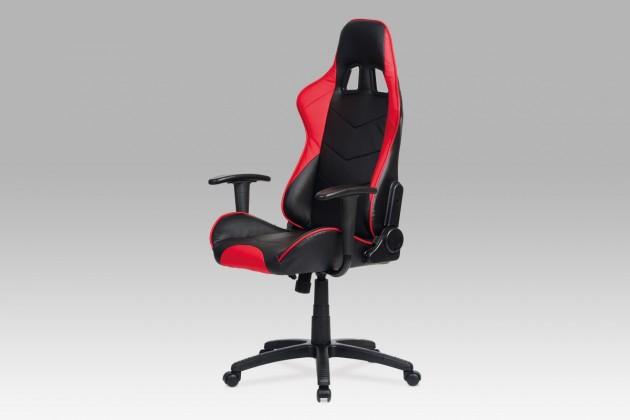 kancelářská židle Racer Red - Kancelářská židle (černá, červená, koženka)
